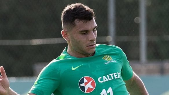 Back in the mix: Andrew Nabbout is ready to play against the UAE, coach Graham Arnold says.