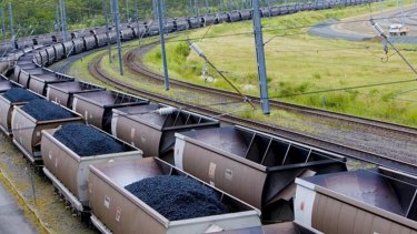 Rail freight operator Aurizon has reported a net profit down 19 per cent for the first half.