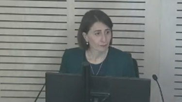 Gladys Berejiklian gave evidence at the ICAC inquiry in October.