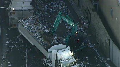 Substance found in cabin of truck that flipped over on M5 on-ramp