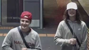 Police have released images of two males after a 60-year-old man was seriously assaulted.