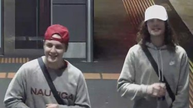 Jay (left) and Isaiah Stephens in an image taken from CCTV footage released by police.
