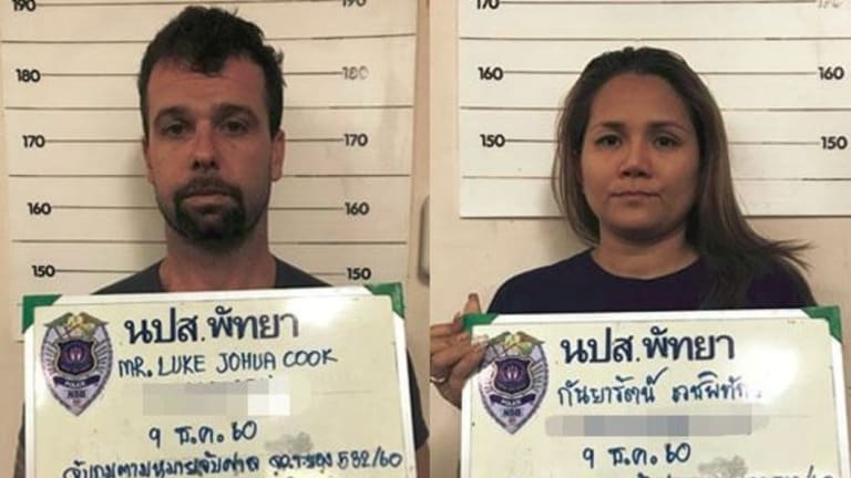 Australian Luke Cook and his Thai wife Kanyarat Wechapitak.