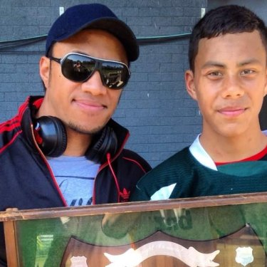Father-son bond that developed over many years through junior rugby league.