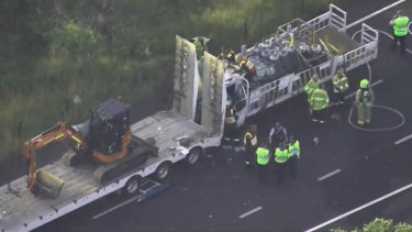 A truck driver has died after a crash on the M7.