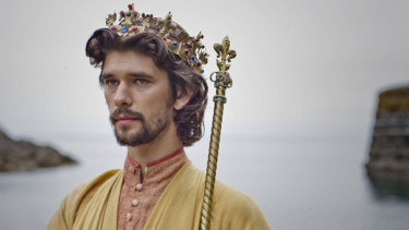 Ben Whishaw as Richard II in The Hollow Crown.