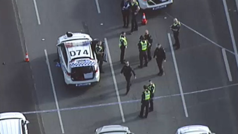 Man shot dead in Monash Freeway stand-off had mental health problems, police say