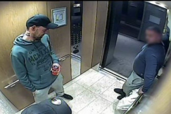 Police wish to speak to the man in this image in relation to the movements of Mr Giakoumis.