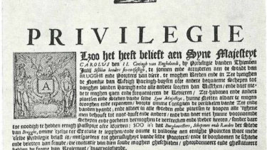 The Fisheries Privilege of 1666 in the local language.