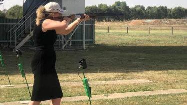 Senatro Bridget McKenzie at the Wangaratta Clay Target Club.