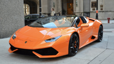 A Lamborghini Huracan Spyder LP610 2018, advertised on Melbourne Luxury Car Hire's website.