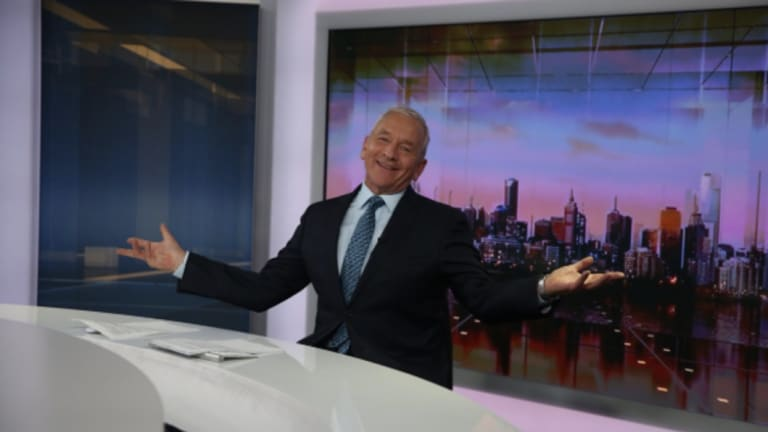 Ian Henderson misses his last sign off after 25 years as technical glitch forces the station to switch to NSW's 7pm news.