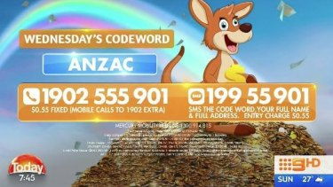Channel Nine's Today show is facing a possible fine for breaching regulations on commercial use of the word 'Anzac'.