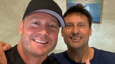 MIchael Clarke with Laurie Daley.