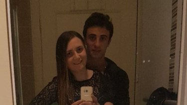 Courtney Herron with her former boyfriend Ahmet Ozkurt.