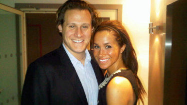 """""""Me and my lady in London,"""" Trevor Engelson wrote of this photo in 2010."""