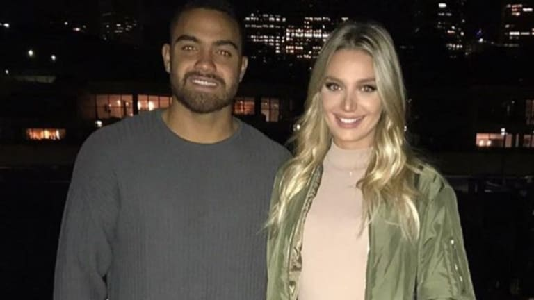 NRL player Dylan Walker and his fiancee Alexandra Ivkovic.