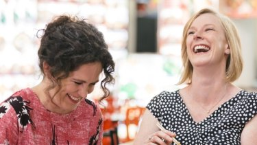 Mates ... Annabel Crabb and Leigh Sales.