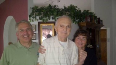 Guardianship reform advocate Rick Black, left, with his late father-in-law and wife Terri, right.