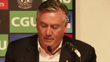 Eddie McGuire announces his decision to stand down as Collingwood's president.