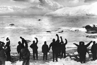The explorers rescued from Elephant Island in 1916.
