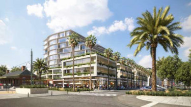 An artist's impression of the proposed mixed-use developmentat Waterfront Place, Port Melbourne.