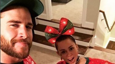 Liam Hemsworth and Miley Cyrus had a (wrecking) ball (or bauble?) last Christmas.