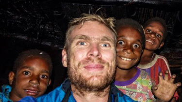 Rowan Simon pictured during a visit to West Papua.