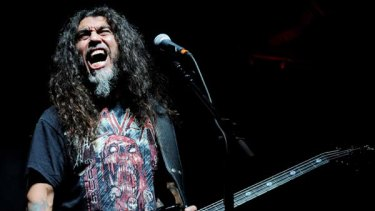 Slayer's Tom Araya, heading to Melbourne and Sydney as part of next year's Download  festival.