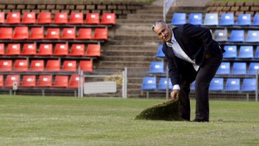 Turf war: Rabieh Krayem, chairman of the Australian Association of Football Clubs, has been leading the charge for a national second division.