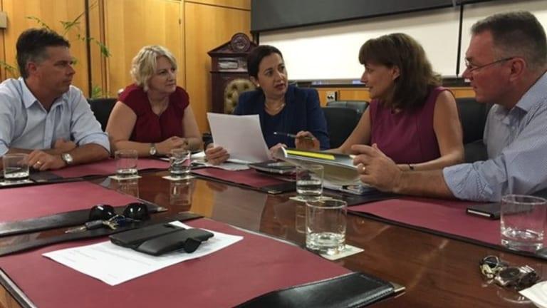 Premier Annastacia Palaszczuk meets with Townsville Mayor Jenny Hill.