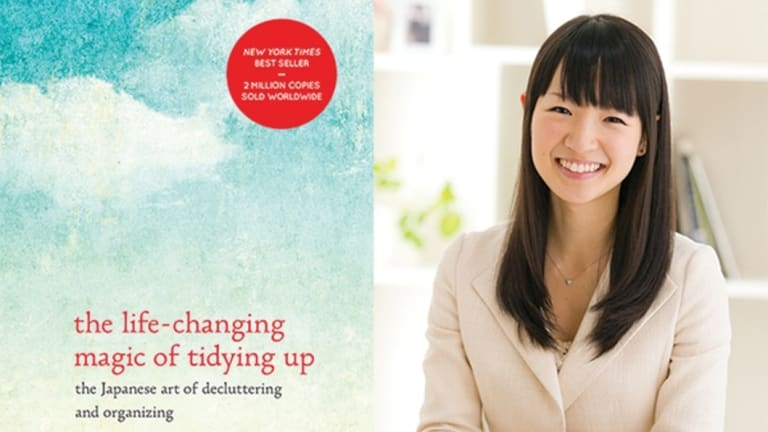 This de-cluttering craze began with Japanese professional organiser Marie Kondo.