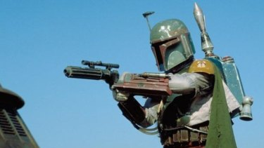 Mandalorian bounty hunter Boba Fett.