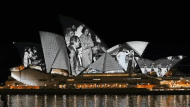 Opera House sails illuminated with memories of the community