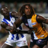 From the Archives, 2013: Eagles by a whisker over Kangaroos