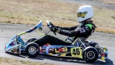 Callow was a champion junior karter.