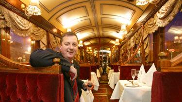 Inside the tramcar restaurant.