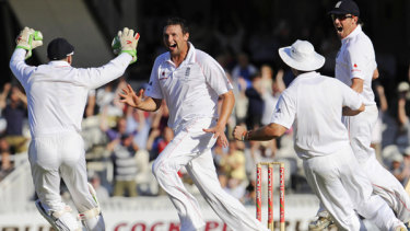 Steve Harmison during the 2005 Ashes series.