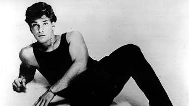 Stepping up to stardom ... Patrick Swayze sings and dances his way to fame in 1987's Dirty Dancing.