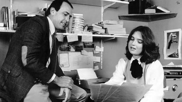 Gerald Stone and 60 Minutes reporter Jana Wendt in 1981.