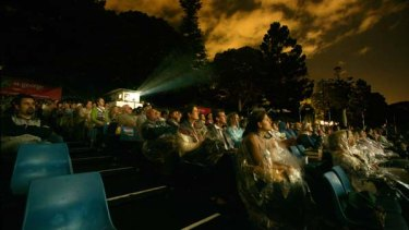 Movie-goers at the Open Air Cinema at Mrs MacQuaries Chair last year.