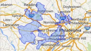 """Goofy kicking Donald Duck"": Pennsylvania's 7th congressional district."