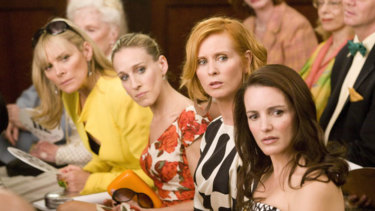 From left, Samantha, Carrie, Miranda and Charlotte in the 'Sex and the City' movie. Pubic hair not shown.