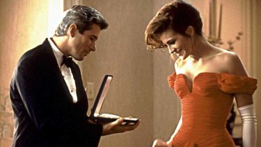 Julia Roberts and Richard Gere in Pretty Woman.