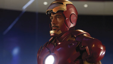 Iron Man played by Robert Downey Jr. The suit couldn't save him from Canberra's Rotarians.