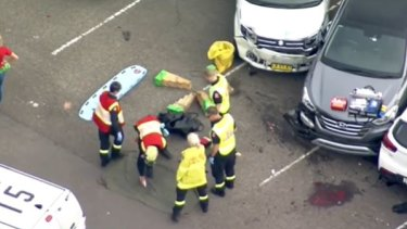 The injured woman was taken to Westmead Hospital.