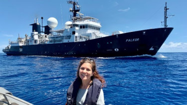 Chief scientist Derya Gürer has been heading the current project to map the northern edge of the lost continent of Zealandia.