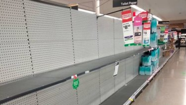 Shelves at some supermarkets were stripped bare on Tuesday after the South Australia COVID cluster grew.