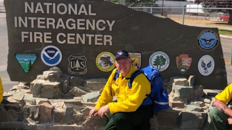 Australian firefighter, Inspector Phillip Eberle from Batemans Bay, was in the US to assist with bushfire efforts.