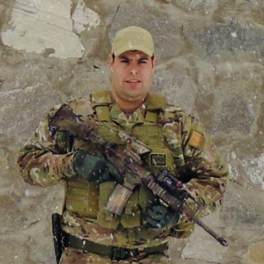 Buderim MP Brent Mickelberg in his former role as a soldier in Afghanistan.